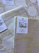 YVES DELORME VEGETAL HONEY SATIN DAMASK JACQUARD DUVET COVER SET SUPERKING