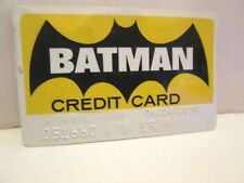 DC COMICS BATMAN NOVELTY CREDIT CARD CHARGE CARD HAS NAME EMBOSSED
