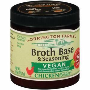 Orrington Farms All Natural Vegan Broth Base Seasoning, Chicken, 6oz, Exp. 01/22