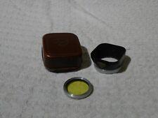 Vintage Rollei Lens Hood & Medium Yellow Gelb-Mittel Filter Bay 1 Cased