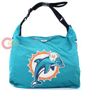 Miami Dolphins Jersey Tote Bag Shoulder Bag NFL Team Jersey Logo