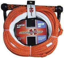 Hydroslide 10 Section 75' Waterski slalom ski rope + rope tidy+ floating handle