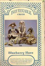 "Vtg 80s Buttermilk Creek Craft Pattern Primitive Bunny Blueberry 40"" greeter"