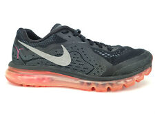 Nike Air Max 2014 Men Size 11.5 Black Running Athletic, Breast Cancer Awareness
