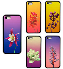 Flower Plant Pattern Design Rubber Phone Case Cover For iPhone / Samsung / LG