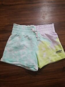 JUSTICE SHORTS GIRLS YOUTH 14/16 MULTICOLORED