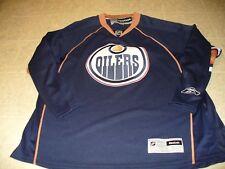 Edmonton Oilers Navy Blue Size XL men's Premier NHL Reebok Hockey Jersey