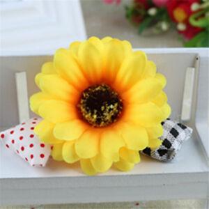 20 pcs Multi-colors Artificial Sunflowers Fabric Flowers Wedding Party Decor