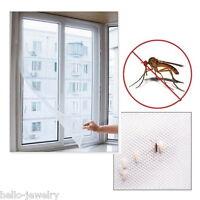 Neu PD Weiß Fenster Fliegengitter Insektenschutz Gaze DIY mit Kleber 130x150cm