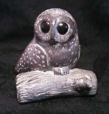 Wolf Original Owl Hand Made Soapstone Sculpture, Canada