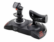 T FLIGHT HOTAS X JOYSTICK PC ps3 Controller resto Mano Larga Rimovibile Nuovo