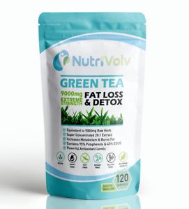 Green Tea 9000mg Weight Loss Slimming Diet Detox Fat Burner Keto Diet EGCG