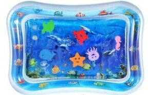 Inflatable Tummy Time Water Play Mat, Perfect Sensory Training for Infants