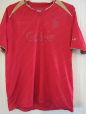 "Liverpool 2005-2006 CL Home Football Shirt Size Large Mans 42-44"" 37935"