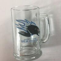 "Saint John Sea Dogs Glass Stein Mug Quebec Canada Hockey Cup Small 5.25"" Beer"