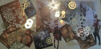 Craft clearout mix, card toppers/paper die cuts,bundle vintage steampunk Job Lot
