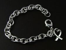 Women's Silver plated chain link Bracelet with heart charm