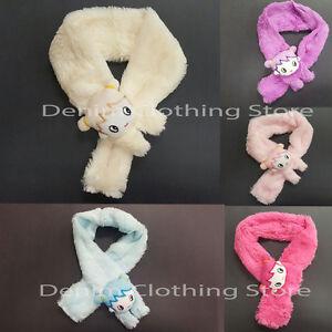 Girl's Kids Animal Bunny Fuzzy Cozy Super Soft SCARF Faux Fur Warm Winter Gift