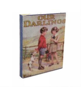 Muñecas Casa Antiguo Nuestro Darlings Story Libro Miniatura Guardería Accesorio