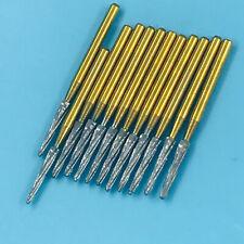 12pc Dental Fg Burs Surgical Zekrya Carbide Bone Cutters Finishing Bur Gold 25mm