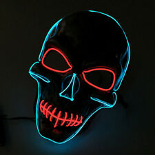 Light Up LED Skull Skeleton Mask Guy Fawkes For Anonymous Haloween Party Mask