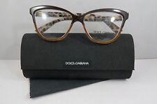 Dolce & Gabbana DG 3229 2881 Brown/Havana New Authentic Eyeglasses 54mm w/Case