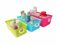 Honla Perforated Plastic Storage Baskets/Bins Organizer with Little Handles-S...