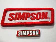 Simpson Racing Pin & Patch