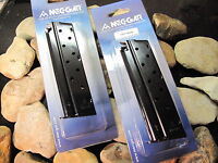 2 Pack MECGAR 1911 Full Size 9mm 9 Round Magazine Mag Magazines Government