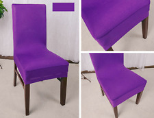 Removable Spendex Chair Seat Cover Stretch Slipcovers Short Dinning Room UK