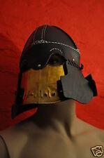Lederhelm Helm Lederrüstung Mittelalter LARP Leder Rüstung Karneval Kostüm 1001