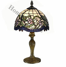 "Wild Vine Tiffany Style Handcrafted Table Lamp 12"" Shade (IDEAL CHRISTMAS GIFT )"