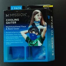 2 PACK MISSION INSTANT Youth Cooling Neck Gaiter Face Cover Mask CAMO Youth