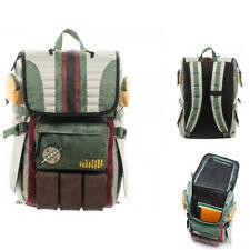 Star Wars Boba Fett Canvas laptopbag Backpack Zip Rucksack Schoolbag Travel Bag