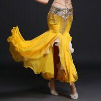 Lady Ruffle Dance Fishtail Skirts Salsa Belly Ballroom Flamenco Dancewear Modern