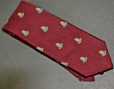 Robert Talbott Club Tie on Maroon Field  Tie  61 X 3 1/4