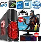 Quick Gaming Pc Computer Bundle Intel Quad Core I5 16gb 1tb Win10 2gb Gt710