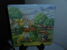 Rare Bradex Winnie The Pooh Friends Indeed The Wonders Of The Wood Plate Rabbit