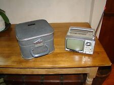 VINTAGE SONY MICRO TV 5-303 W WITH CORD AND CASE