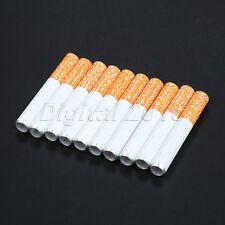 10Pcs Creative Metal Tobacco Pipe Cigarette Shape 55*8mm Smoking Accessories