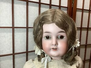 """Antique German Bisque Socket Doll Queen Louise Jointed Body 26"""" All Original"""