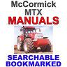 McCormick MTX MTX110 MTX120 MTX125 Tractor Service, Operator Manual More MANUALS