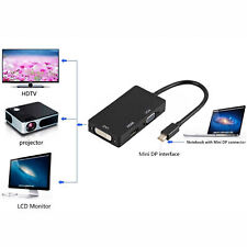 Mini Display Port Thunderbolt to VGA HDMI DVI Adapter For MacBook Pro Mac Air O