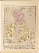1859. Angleterre Écosse Irlande. Carte géographique ancienne par Houze