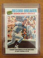 1977 Topps George Brett RECORD BREAKER baseball card # 231