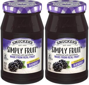 Smucker's Simply Fruit Seedless Blackberry Fruit Spread 2 Pack
