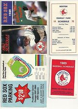 Lot of 3 Boston Red Sox and 1 Paw Sox VINTAGE SCHEDULES EXCELLENT FREE SHIPPING