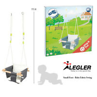Legler Small Foot Baby Easy Care Robust Adjustable Support Wooden Fabric Swing