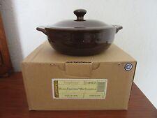 Longaberger Woven Traditions Mini Casserole W Lid Chocolate Pottery