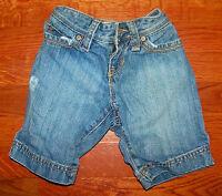 Girls OLD NAVY Medium Blue Cotton Denim Pockets Jeans Shorts Size 6